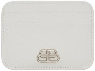 Balenciaga White BB Card Holder
