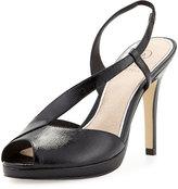 Adrianna Papell Gemini Peep-Toe Slingback Sandal, Black