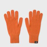 Paul Smith Women's Burnt Orange Lambswool Gloves