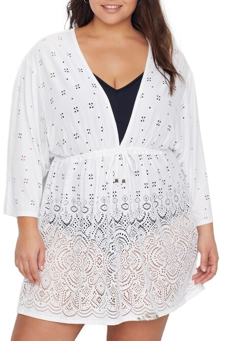 Thumbnail for your product : Dotti Plus Size Gypsy Gem Swim Cover-Up
