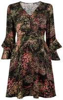 Warehouse Wild Floral Tea Dress