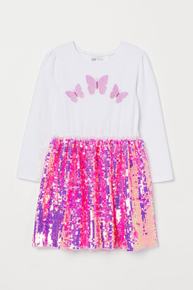 H&M Sequin-skirt dress