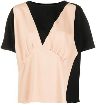MM6 MAISON MARGIELA two-toned layered T-shirt