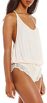 Free People Intimatley FP Make You Jealous Lace-Trimmed Bodysuit