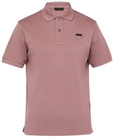 a8b89d37 Conceptual Triangle Logo Cotton Pique Polo Shirt - Mens - Pink