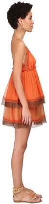 Alberta Ferretti Silk Chiffon Mini Dress