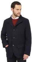 Jeff Banks Navy Wool Blend Jacket