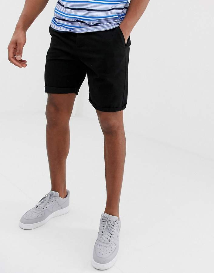 deb51942ff Design DESIGN slim chino shorts in black