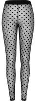 River Island Womens Black polka dot lace leggings