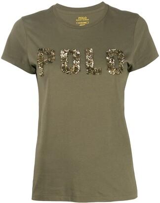 Polo Ralph Lauren sequin logo T-shirt