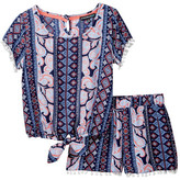 My Michelle mymichelle Tie Front Top & Short Set (Big Girls)
