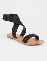 City Classified Cross Ankle Strap Womens Sandals