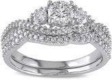 JCPenney MODERN BRIDE 1? CT. T.W. Diamond 14K White Gold 3-Stone Bridal Ring Set