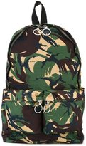 Off-White camouflage zip up backpack - women - Cotton - One Size