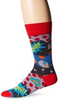 Bugatchi Men's Super Pow Fancy Sock