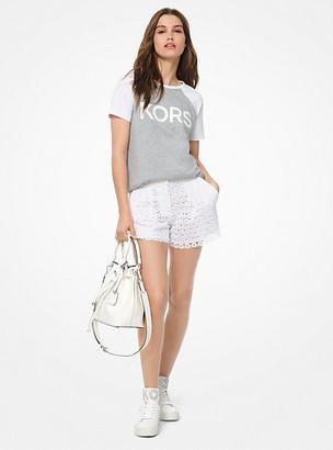 Michael Kors Logo Cotton-Jersey Baseball T-Shirt