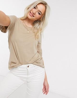 JDY LIFE short sleeve t-shirt in mink