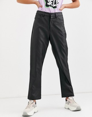 Daisy Street straight leg trousers in faux leather