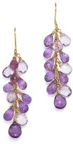 Bloomingdale's Amethyst Drop Earrings in 14K Yellow Gold