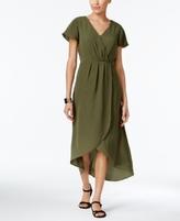 NY Collection Petite Faux-Wrap Maxi Dress