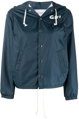 Comme des Garcons Ruffle Trim Hooded Jacket