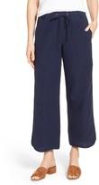 Eileen Fisher Women's Organic Cotton Drawstring Ankle Pants