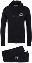 Franklin & Marshall Black Tuta Fleece Uni Jersey Tracksuit