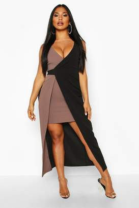 boohoo Colour Block Maxi Dress