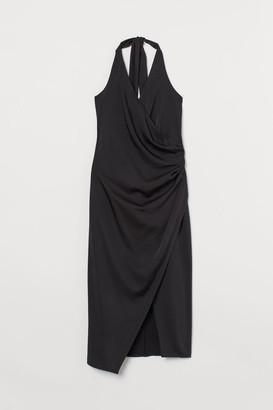 H&M Satin Halterneck Dress - Black