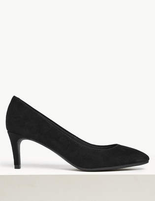 M&S CollectionMarks and Spencer Wide Fit Suede Stiletto Heel Court Shoes