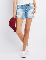 Charlotte Russe Refuge Cut-Off Denim Shorts