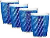 Kraftware Fishnet 14 oz. Double Wall Drinkware - Set of 4