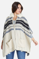Fashion to Figure Danae Zip-Up Stripe Poncho