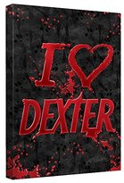 Dexter I Heart Canvas Wall Art With Back Board