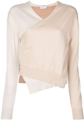 Rosetta Getty wrap front sweater