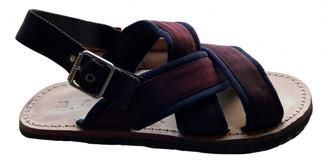 Marni Burgundy Cloth Sandals