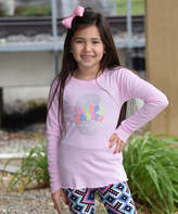 Beary Basics Pink 'Happy Easter' Egg Long-Sleeve Tee - Toddler & Girls