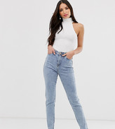 New Look Tall waist enhancing mom jeans in light blue