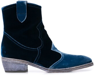 Madison.Maison Velvet Ankle Boots