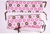 Bacati Mod Dots & Stripes Pink Crib Bumper