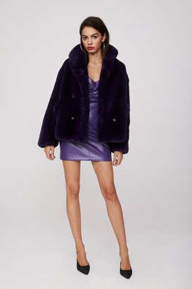 Nasty Gal Womens Magic Touch Faux Fur Jacket - Purple - S, Purple