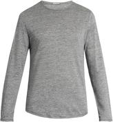 Vince Crew-neck fine-knit linen top