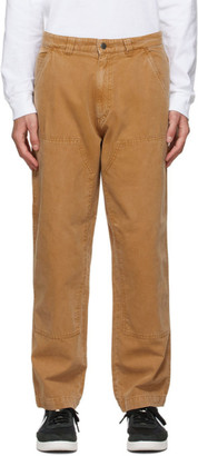 Stussy Tan Canvas Washed Work Pants