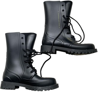 Christian Dior Diorcamp Black Rubber Ankle boots
