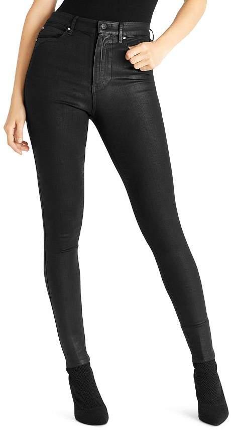 Ella Moss Super-Sleek Coated Skinny Ankle Jeans