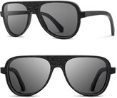 Shwood Men's 'Medford' 56Mm Wood Sunglasses - Dark Walnut/ Grey
