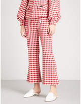 Vivetta Sham appliqué gingham woven trousers