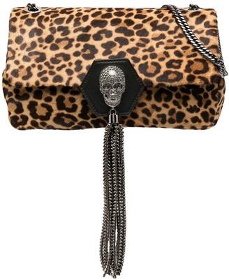 Philipp Plein Skull leopard shoulder bag
