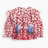 J.Crew Girls' ruffle top in red floral