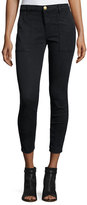 Current/Elliott The Station Agent Cropped Skinny Jeans, Washed Black
